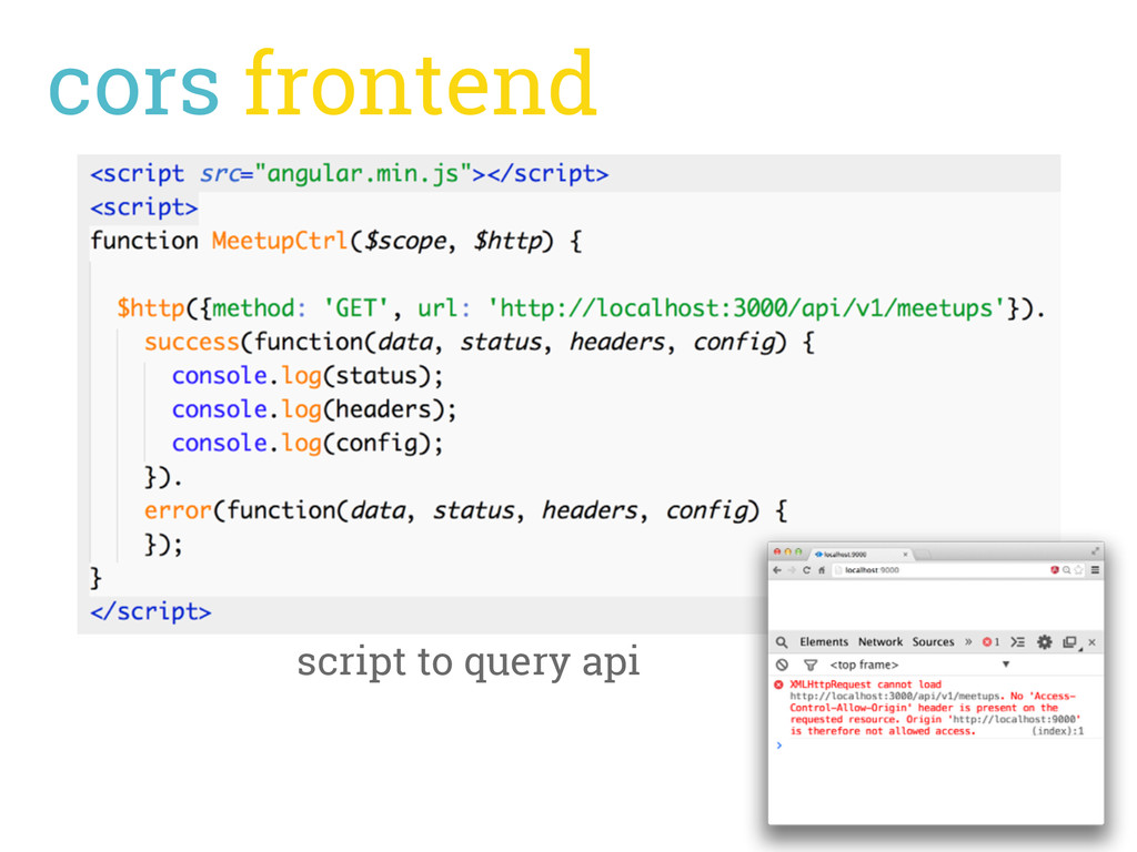 cors frontend script to query api