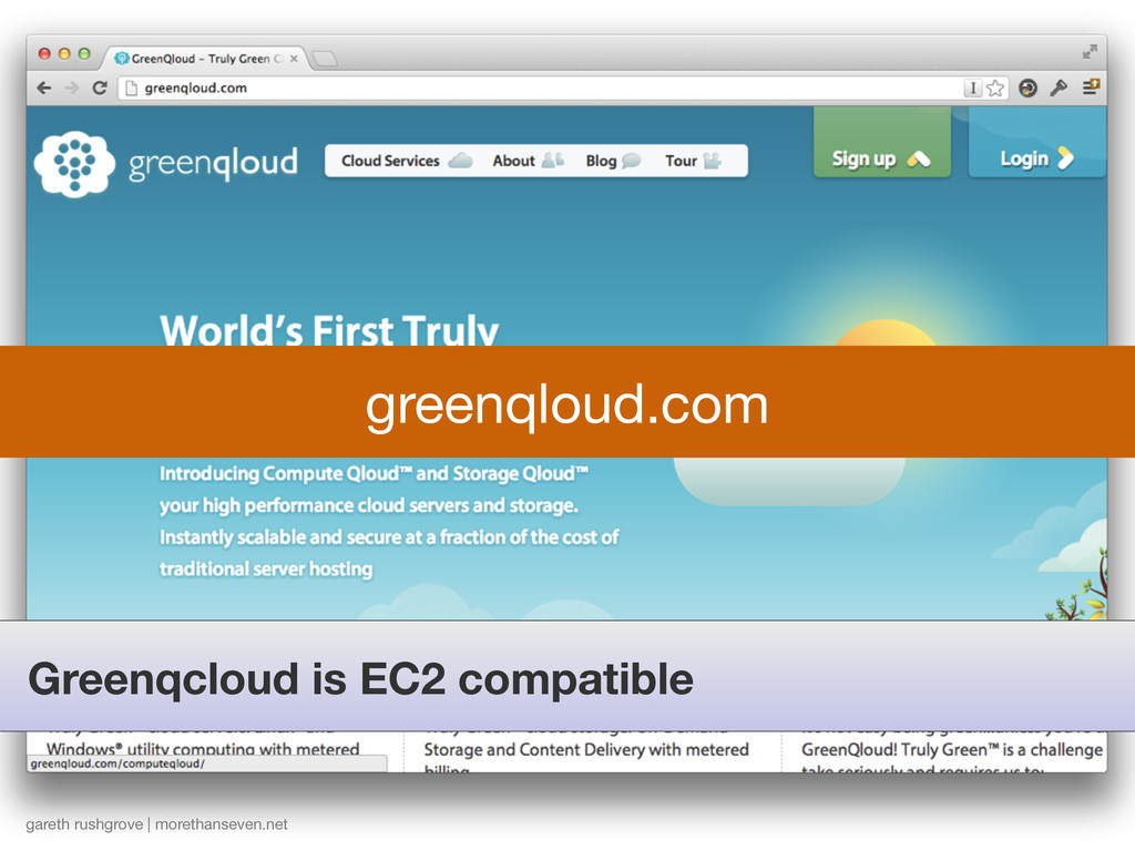 Greenqcloud is EC2 compatible gareth rushgrove ...