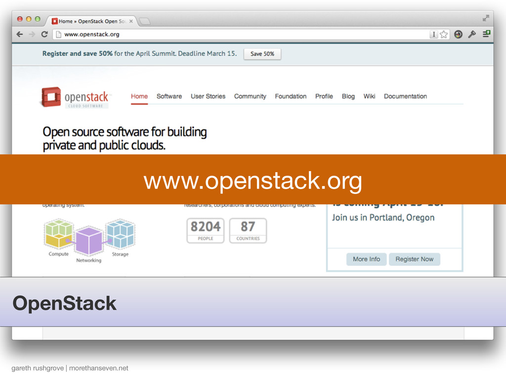 OpenStack gareth rushgrove | morethanseven.net ...