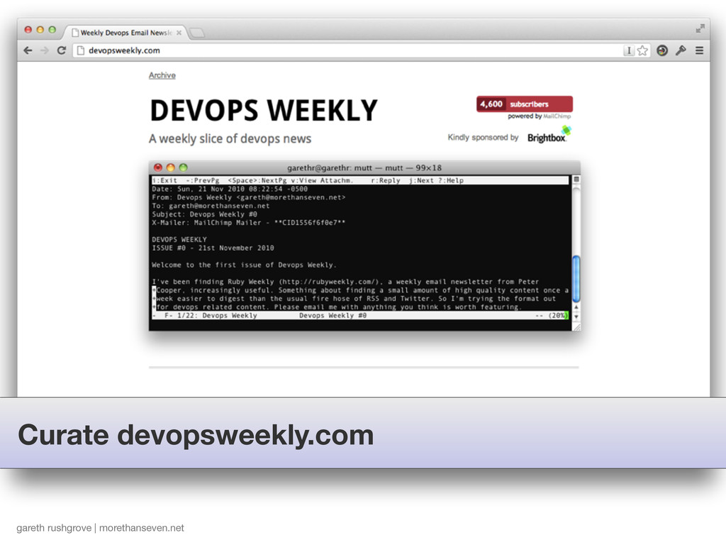 Curate devopsweekly.com gareth rushgrove | more...