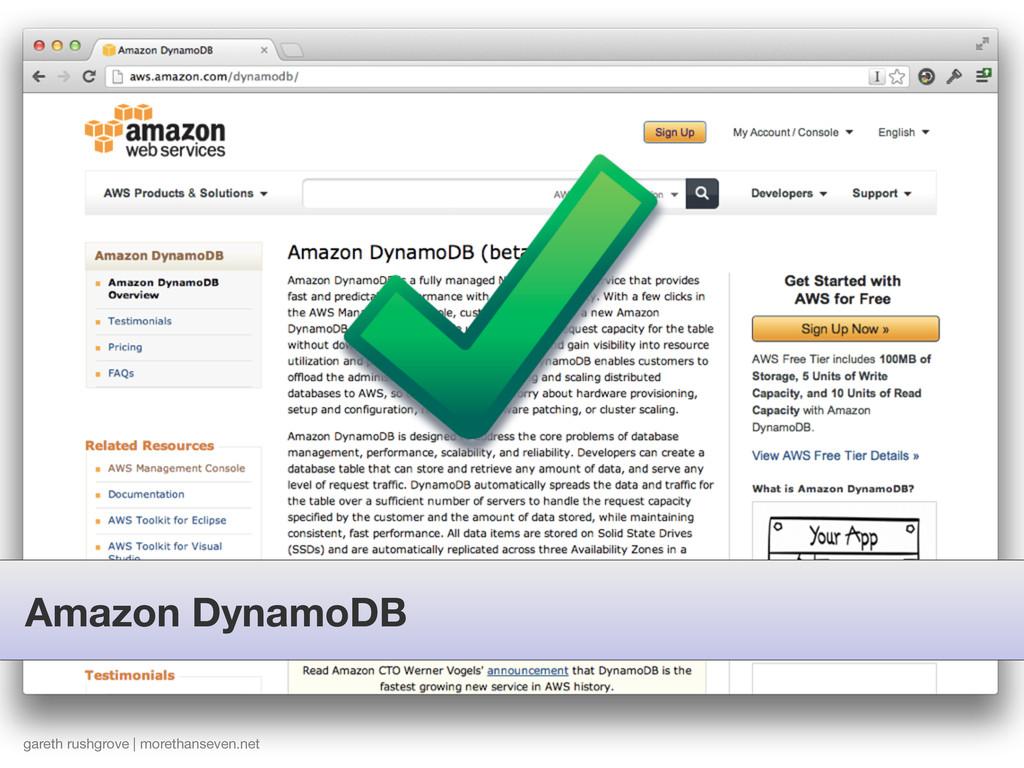 Amazon DynamoDB gareth rushgrove | morethanseve...