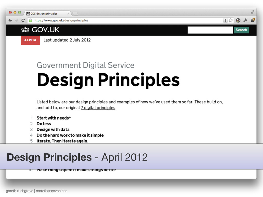 Design Principles - April 2012 gareth rushgrove...