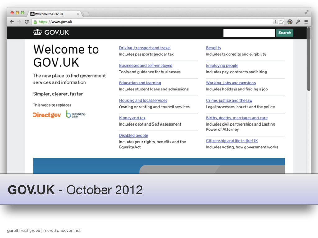 GOV.UK - October 2012 gareth rushgrove | moreth...