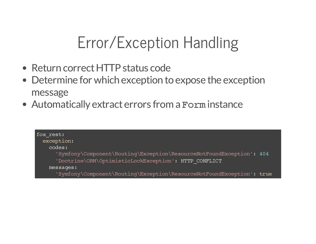 Error/Exception Handling Return correct HTTP st...