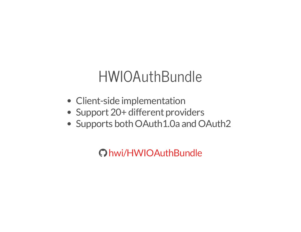 HWIOAuthBundle Client-side implementation Suppo...