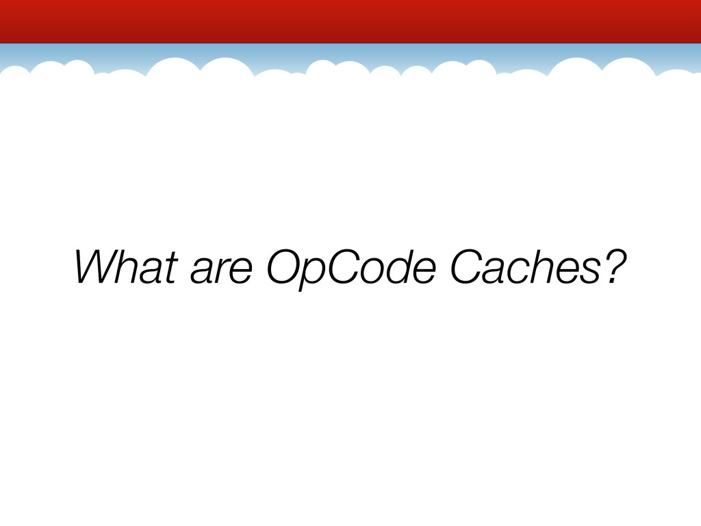 What are OpCode Caches?