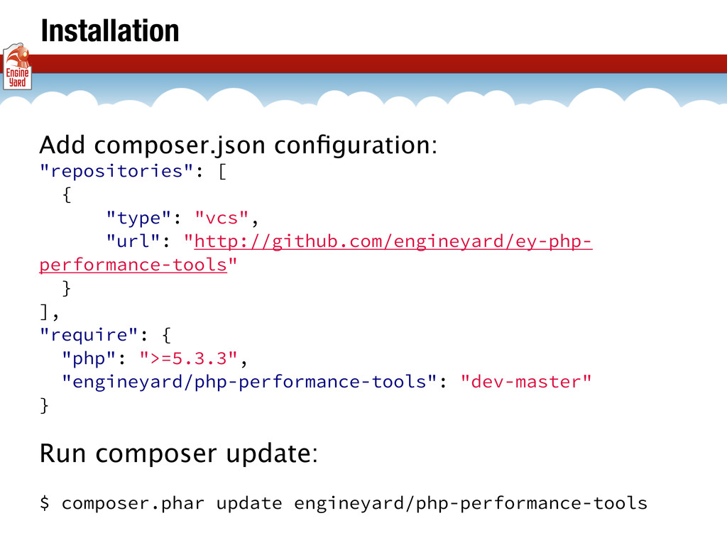 "Installation Add composer.json configuration: ""r..."