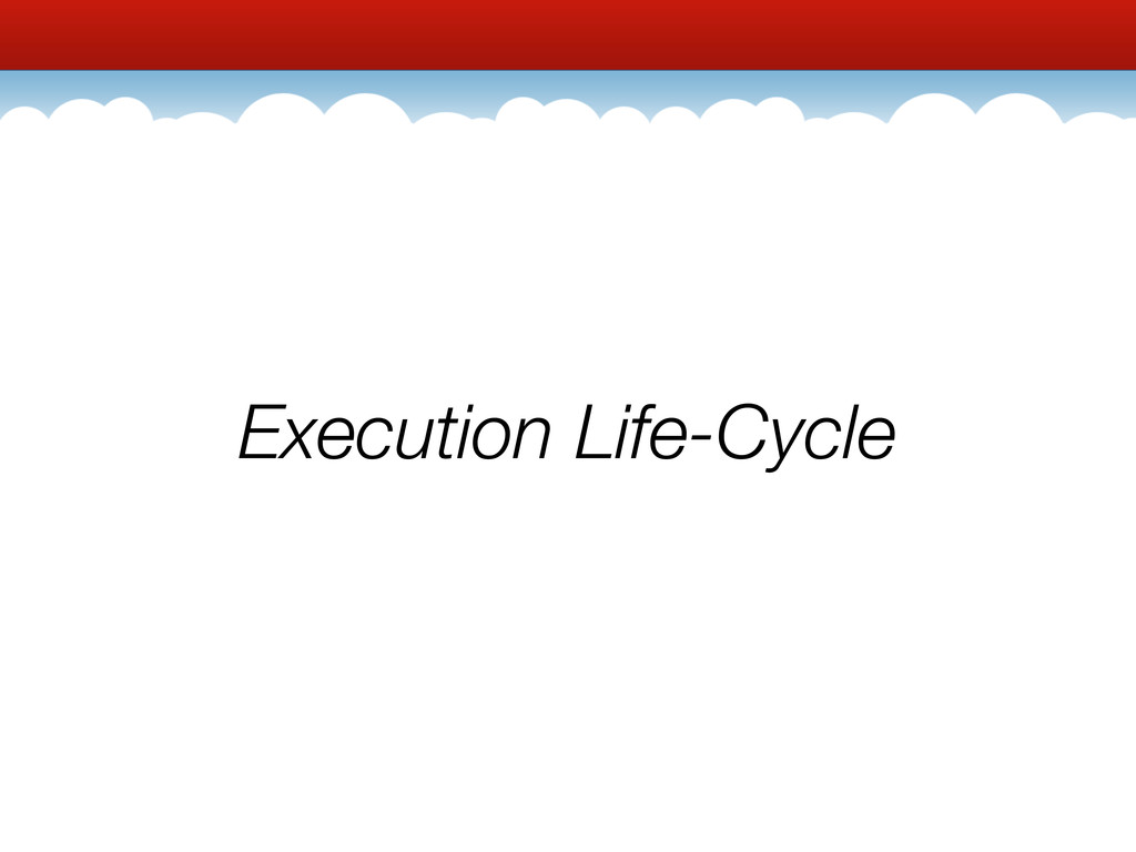 Execution Life-Cycle