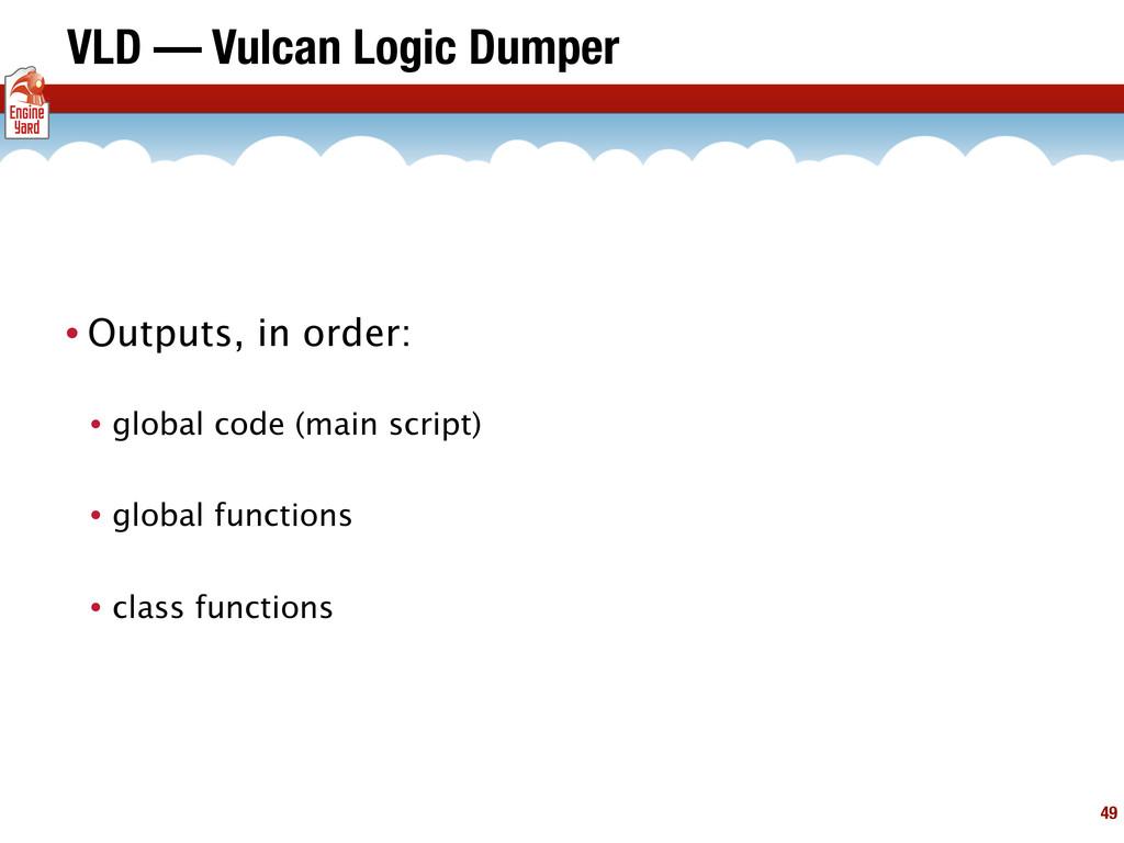 VLD — Vulcan Logic Dumper • Outputs, in order: ...