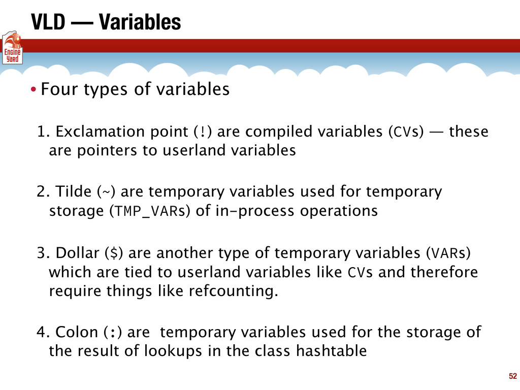 VLD — Variables • Four types of variables 1. Ex...