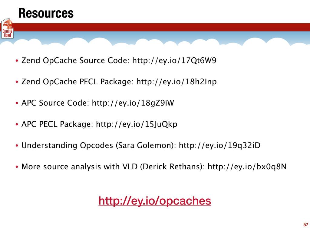 57 Resources • Zend OpCache Source Code: http:/...
