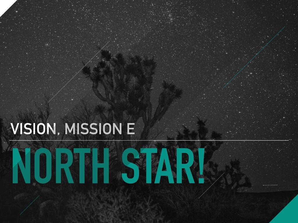 NORTH STAR! VISION, MISSION E