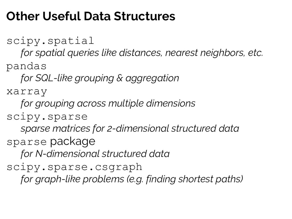 Other Useful Data Structures scipy.spatial for ...