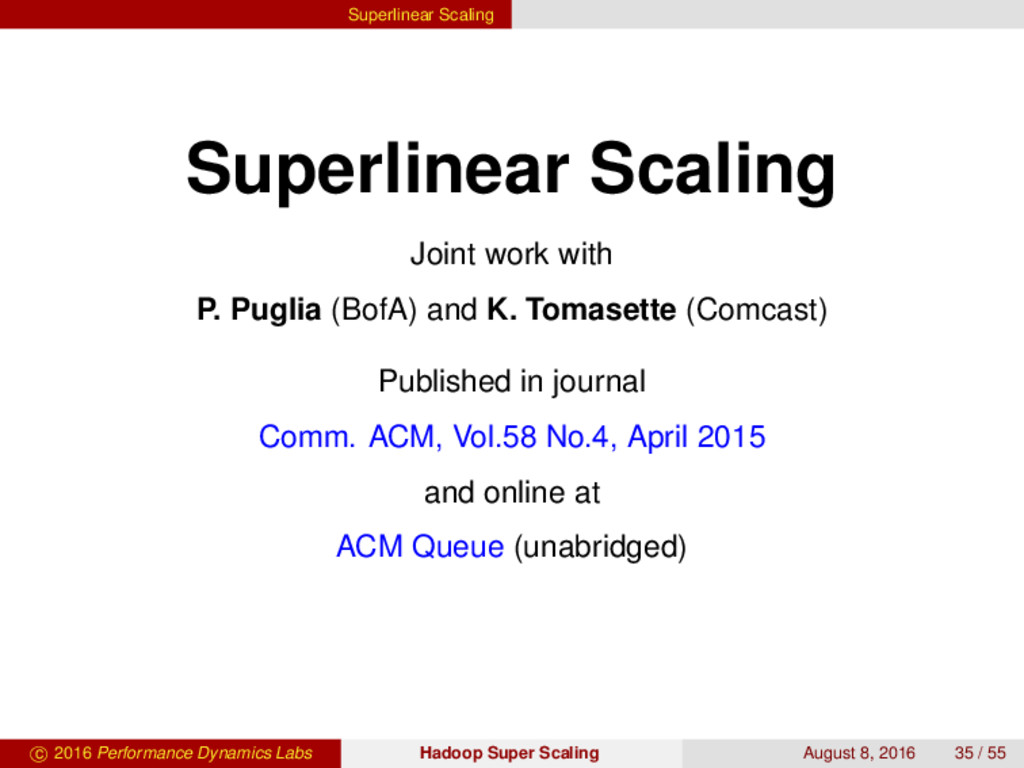 Superlinear Scaling Superlinear Scaling Joint w...