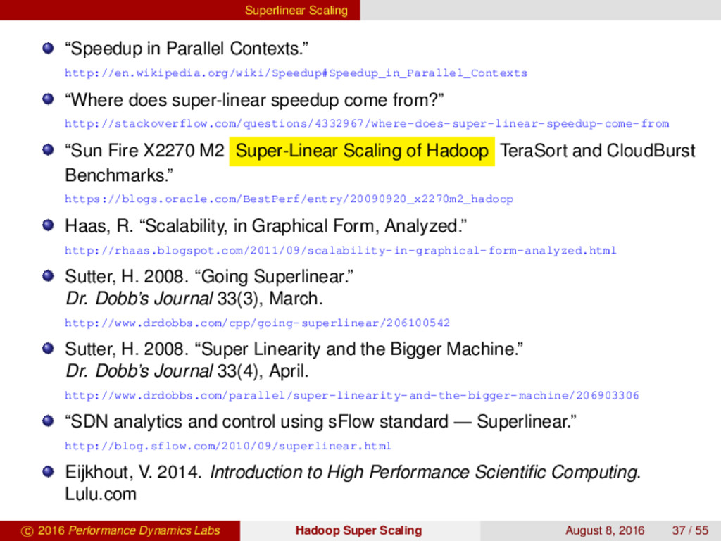 "Superlinear Scaling ""Speedup in Parallel Contex..."