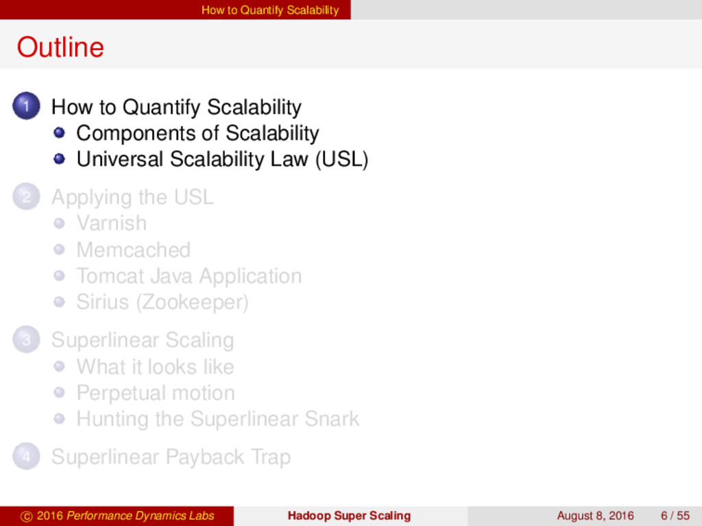 How to Quantify Scalability Outline 1 How to Qu...