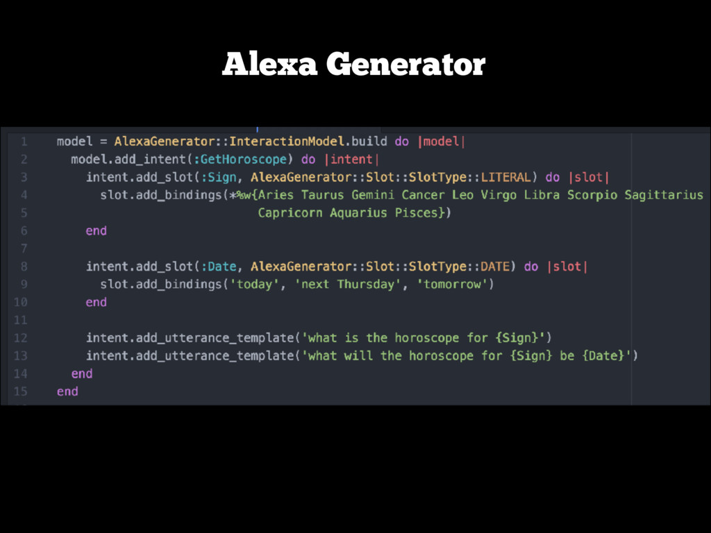 Alexa Generator