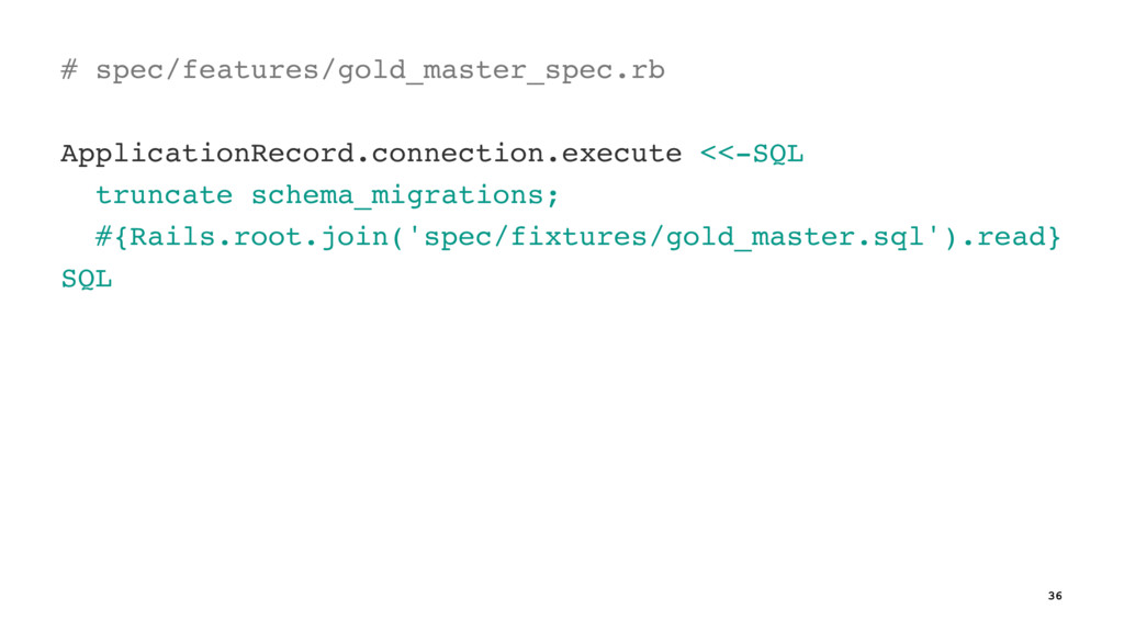 # spec/features/gold_master_spec.rb Application...