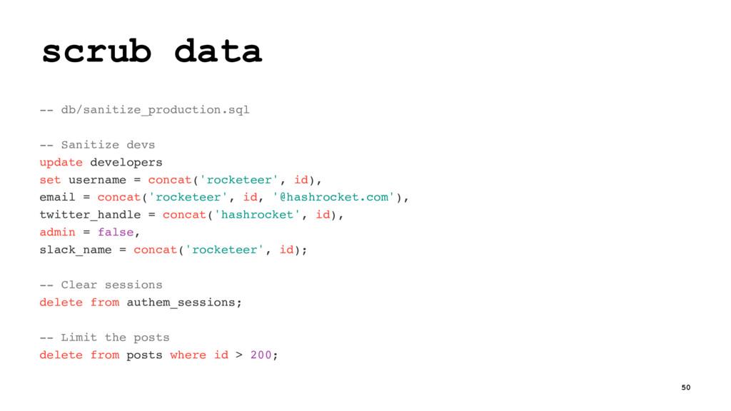 scrub data -- db/sanitize_production.sql -- San...