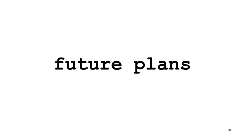 future plans 58