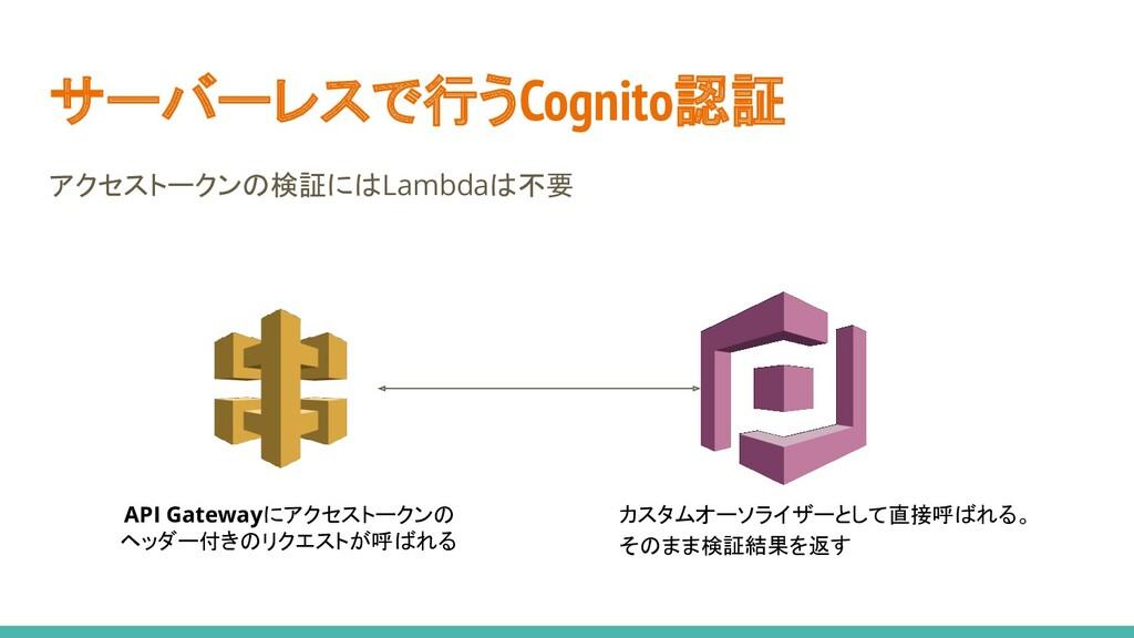 サーバーレスで行うCognito認証 アクセストークンの検証にはLambdaは不要 API G...