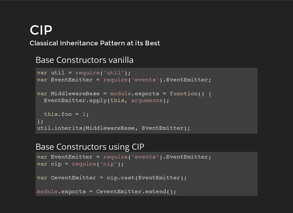 CIP CIP Classical Inheritance Pattern at its Be...