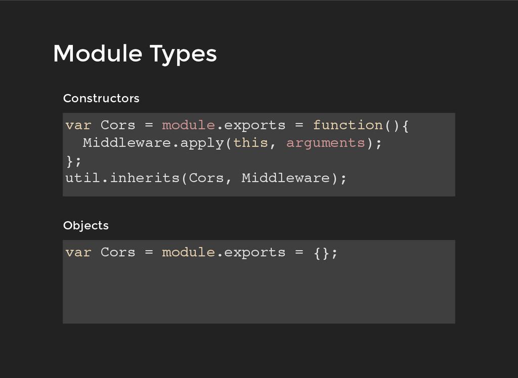 Module Types Module Types Constructors Construc...