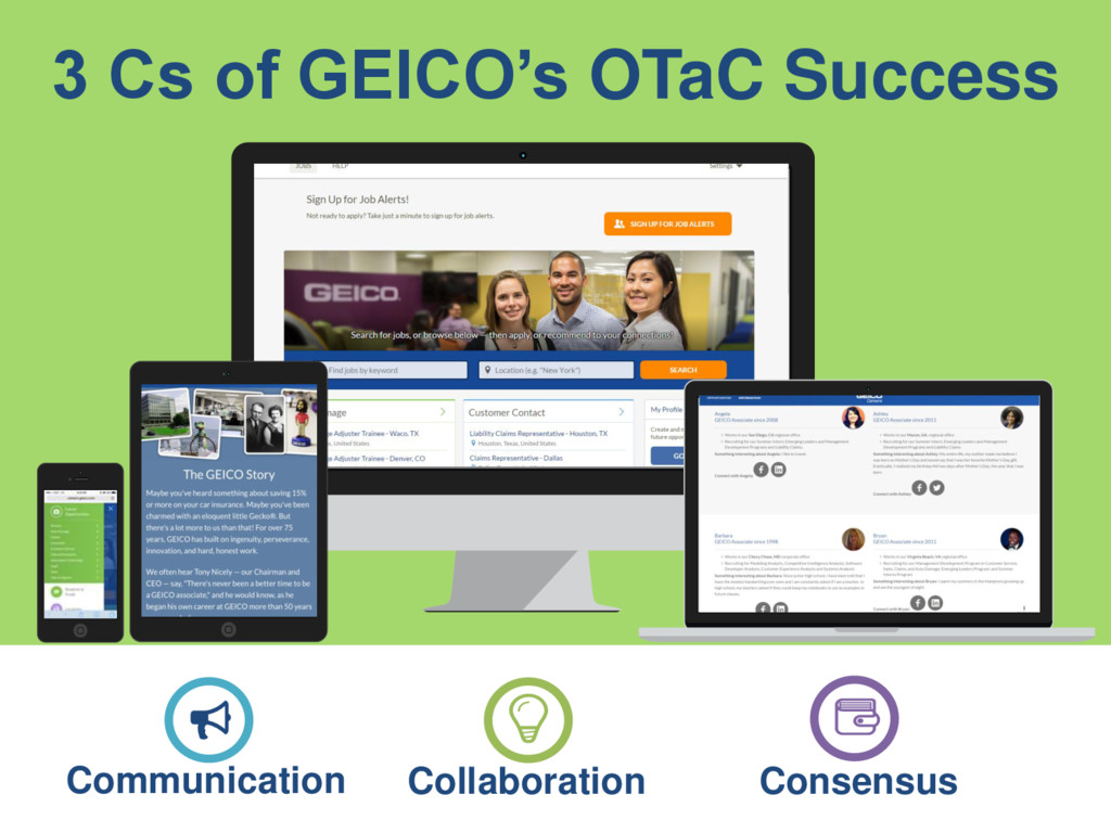 3 Cs of GEICO's OTaC Success Communication Coll...