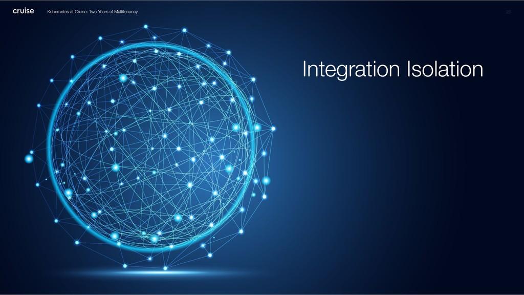 Integration Isolation 25 Kubernetes at Cruise: ...