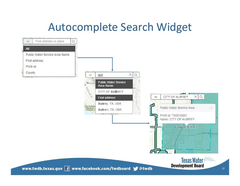 Autocomplete Search Widget 12