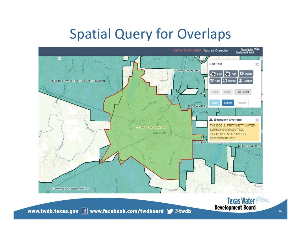 Spatial Query for Overlaps 16