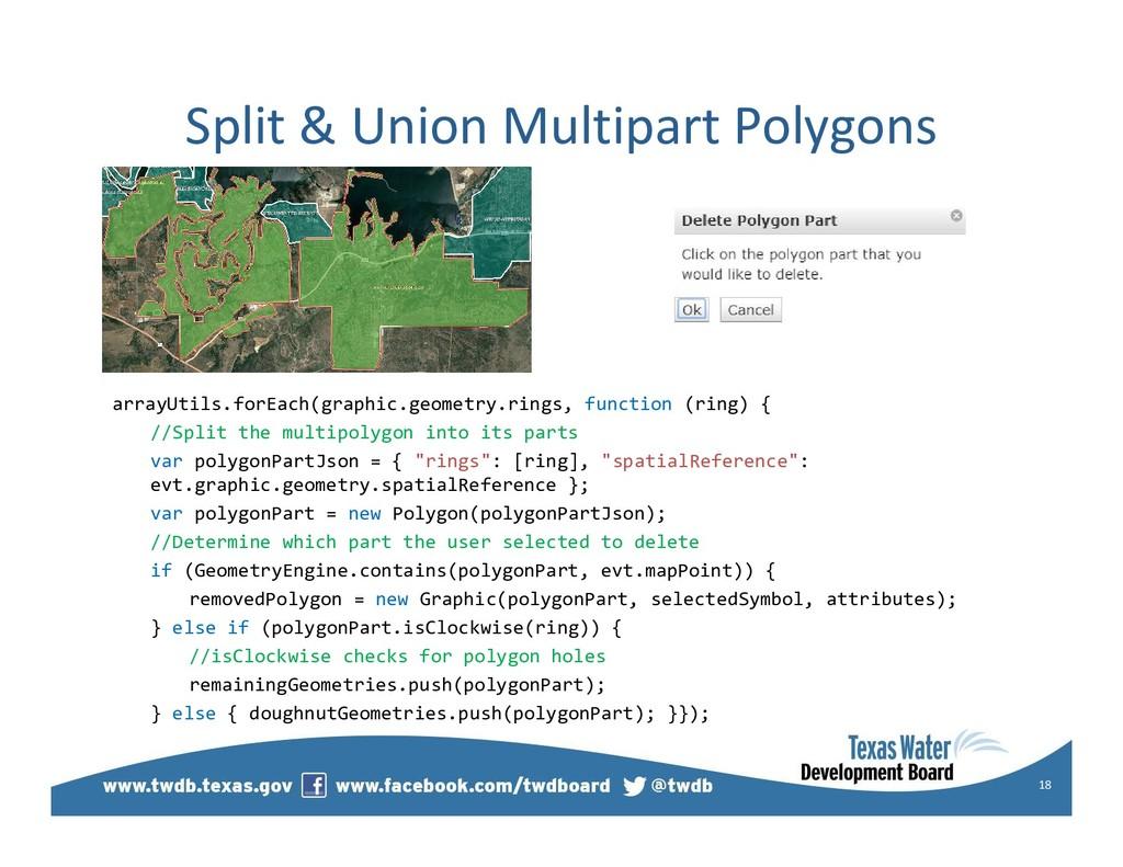 Split & Union Multipart Polygons arrayUtils.for...