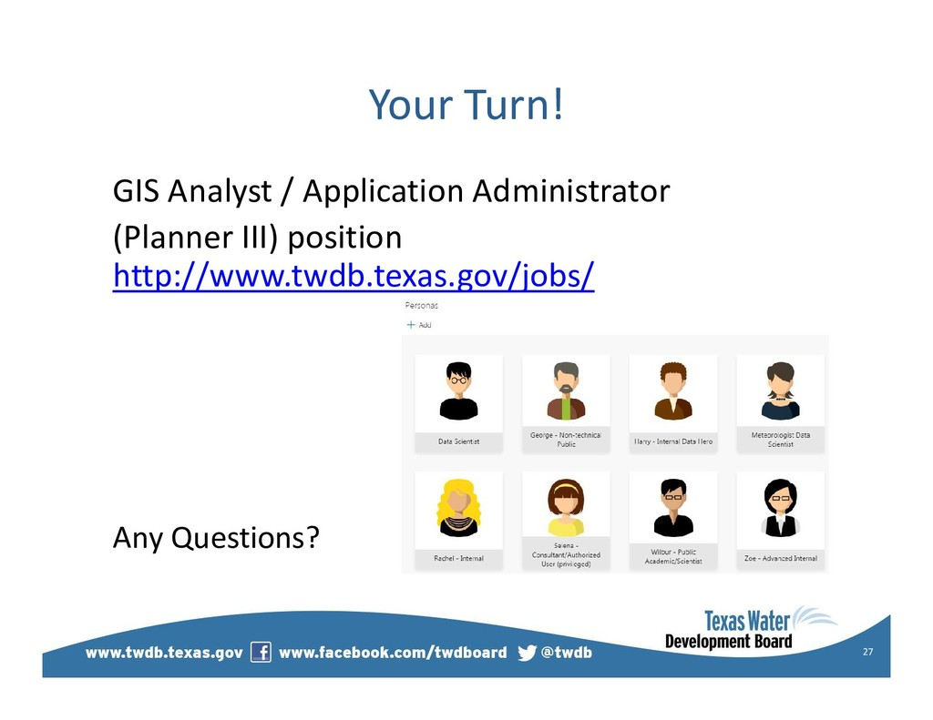 Your Turn! GIS Analyst / Application Administra...
