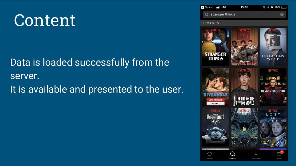 Content Data is loaded successfully from the se...