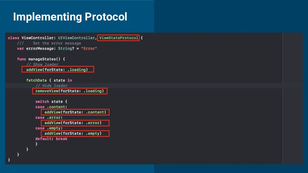 Implementing Protocol