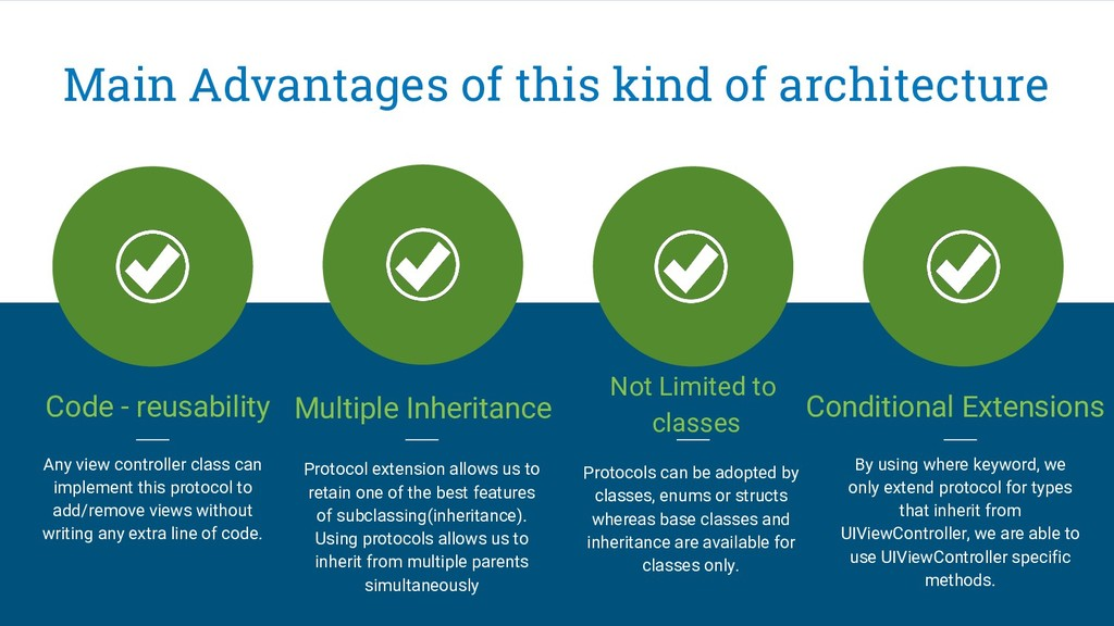 Main Advantages of this kind of architecture Co...