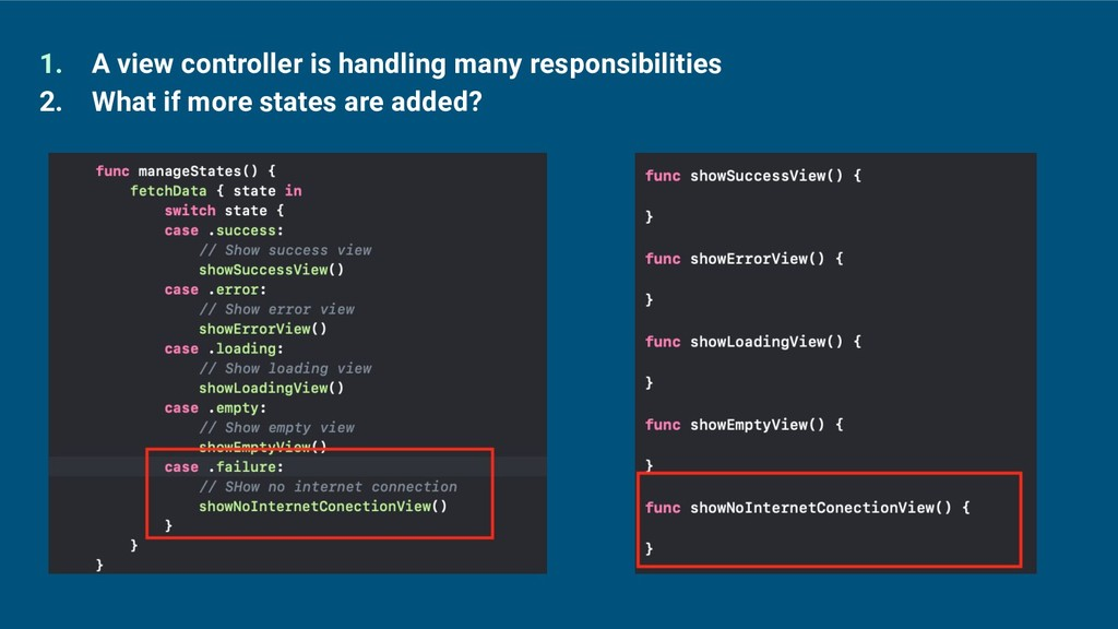 1. A view controller is handling many responsib...