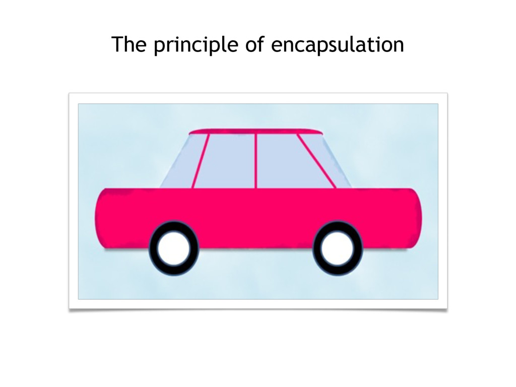 The principle of encapsulation