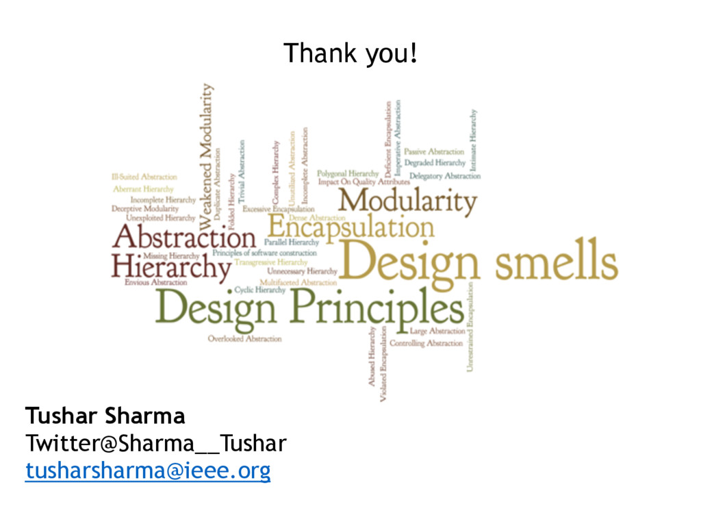 Thank you! Tushar Sharma Twitter@Sharma__Tushar...