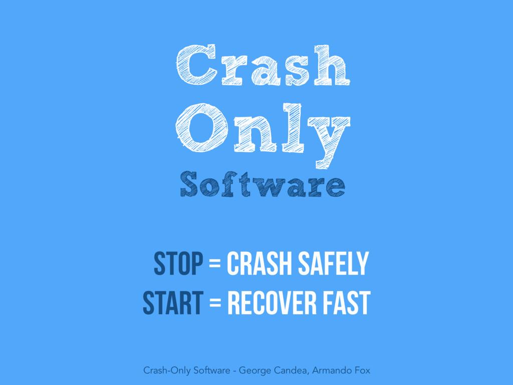 Crash Only Software Crash-Only Software - Georg...