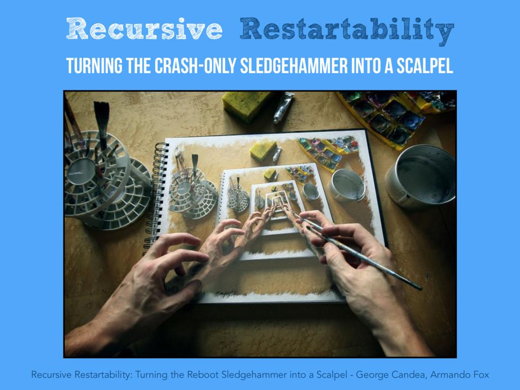 Recursive Restartability Turning the Crash-Only...