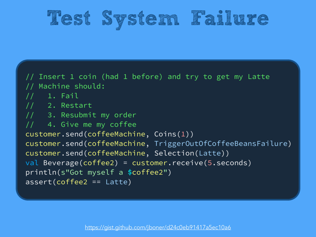 Test System Failure // Insert 1 coin (had 1 bef...