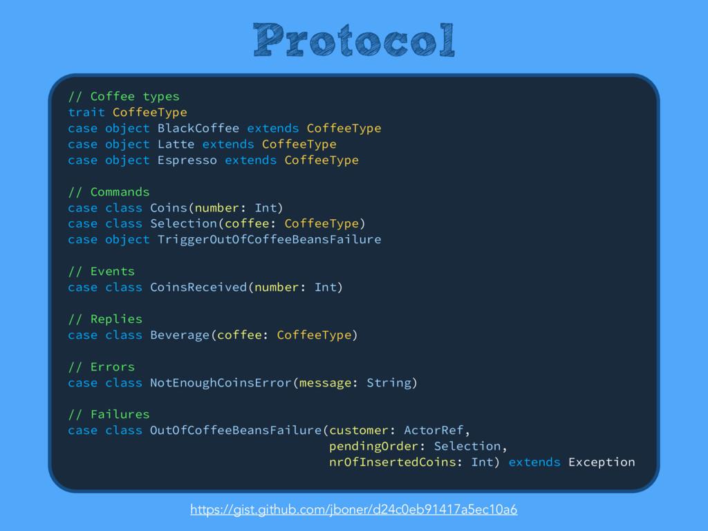 Protocol // Coffee types trait CoffeeType cas...