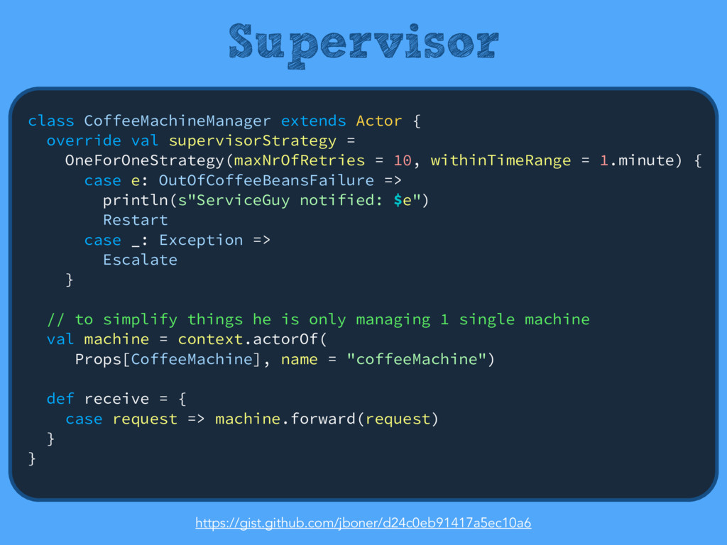 Supervisor class CoffeeMachineManager extends A...