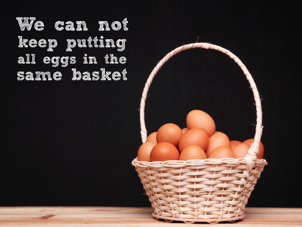 We can not keep putting all eggs in the same ba...