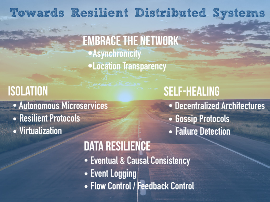 Towards Resilient Distributed Systems Isolation...