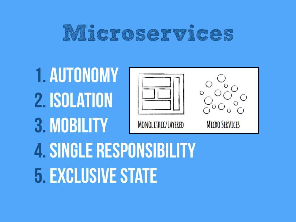 Microservices 1. Autonomy 2. Isolation 3. Mobil...