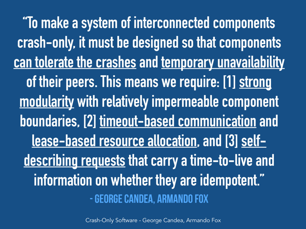 """""""To make a system of interconnected components ..."""