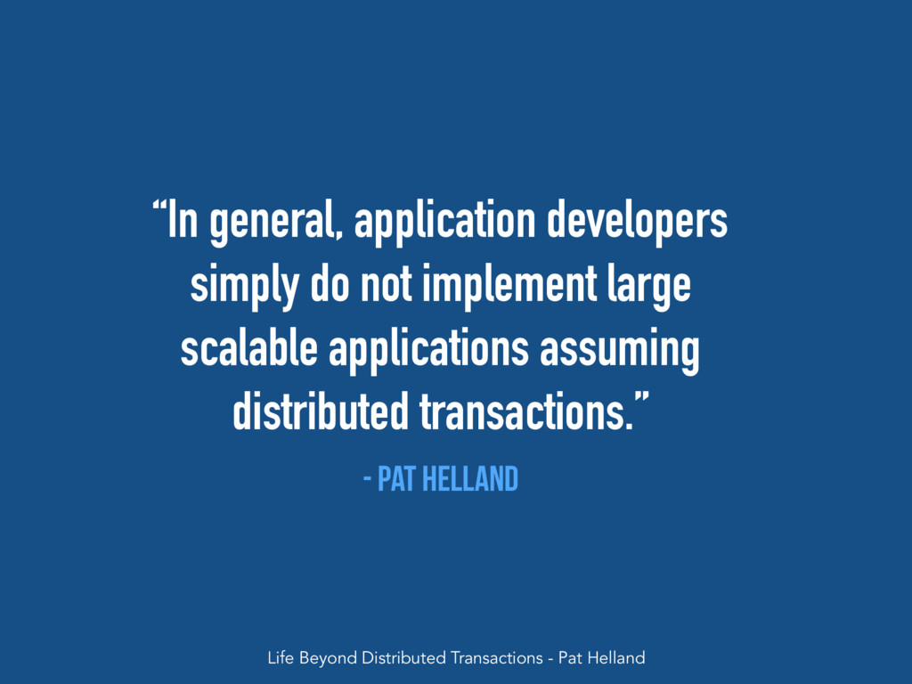 """""""In general, application developers simply do n..."""