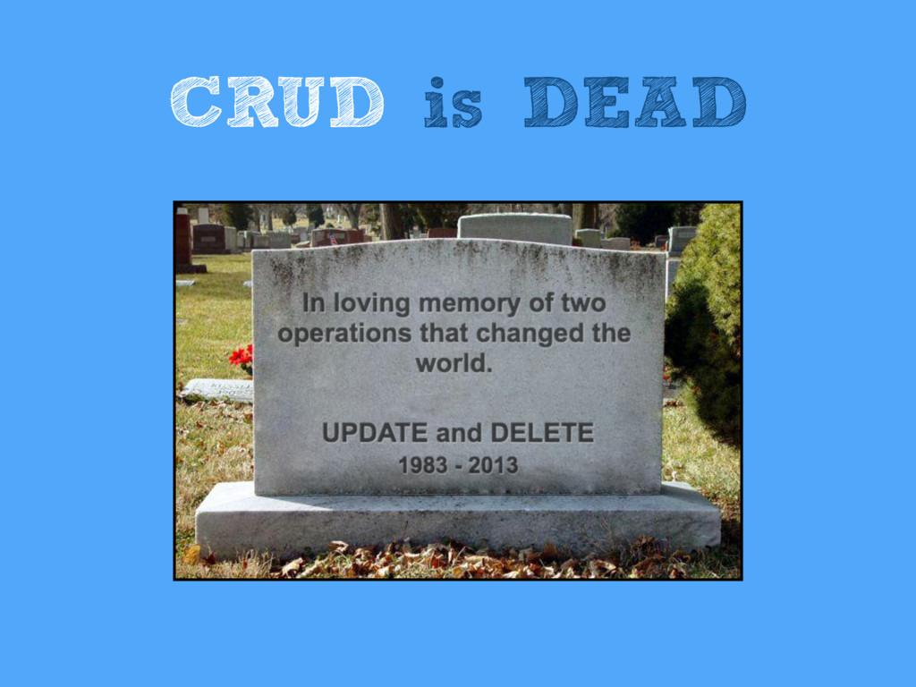 CRUD is DEAD